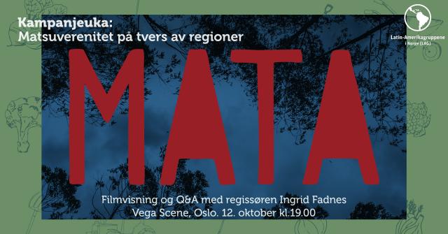 Foto: Kampanjeuka: Mata på Vega Scene