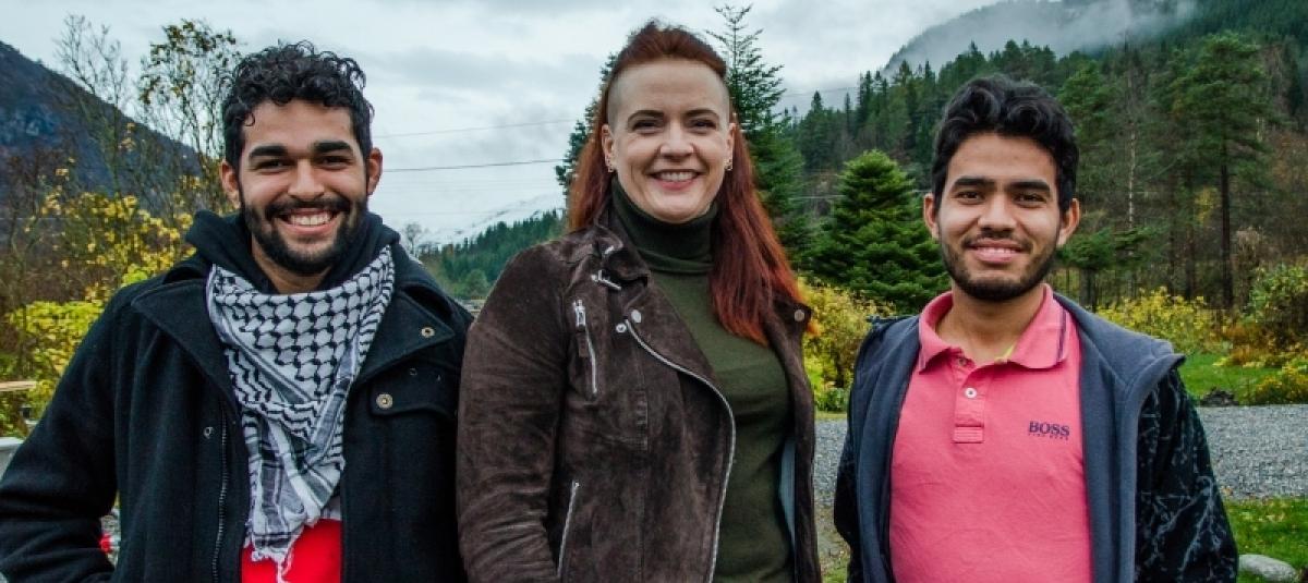 Foto: Latin-Amerikagruppene i Norge. I bilde: Pablo Neri, Barbro Auestad og Samuel Amorim.