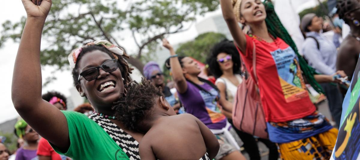 Foto: Marcha Das Muljeres Negras, marsj for svarte kvinners rettigheter i Brasil. (Janine Moraes)