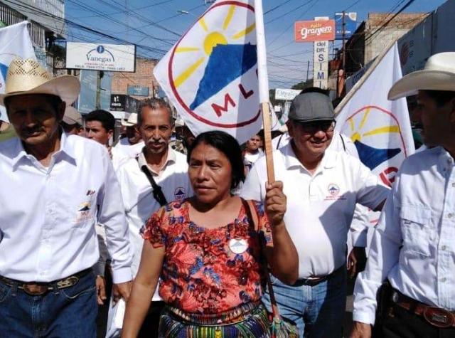 Foto: Urfolkskvinnen Thelma Cabrera, representant fra de sosiale bevegelsene og presidentkandidat for MLP-partiet (foto fra Thelma Cabreras hjemmeside)
